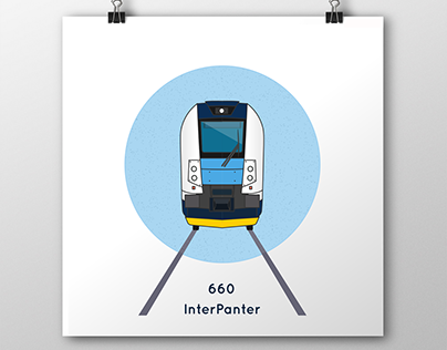 Icons of Czech trains