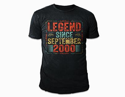 Vintage Birthday T-shirt Design