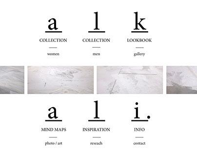 alkali. (interactive portfolio)