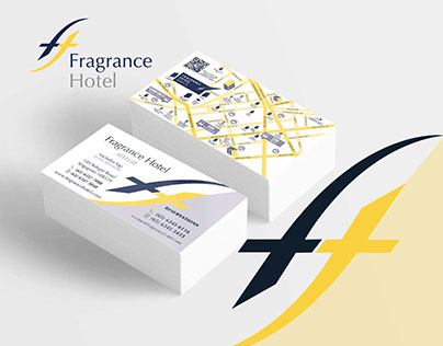 Fragrance Hotels | 44 Business Cards with QR  and Maps