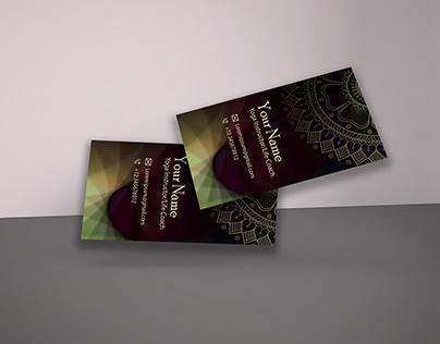 Yoga Business Card Printable Design