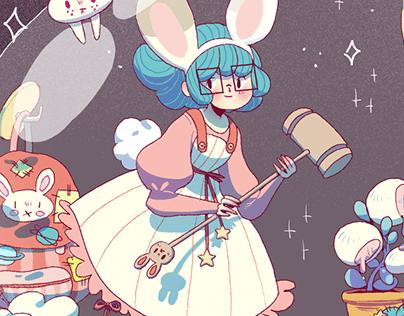 Space bunny girl