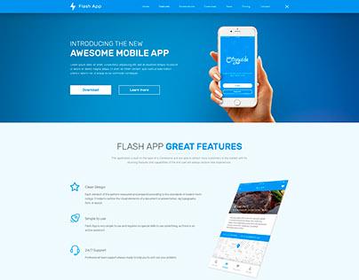 Flash App — Landing Page for Presentation of Mobile App
