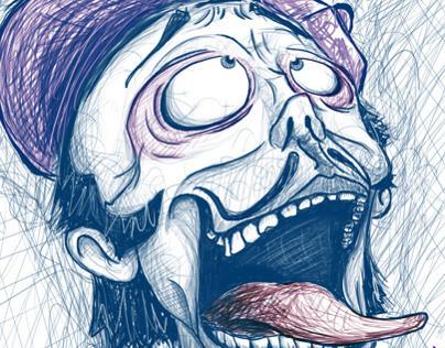 """""""La Locura"""" / Ilustración Digital / Xavi Solis"""