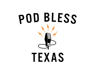Pod Bless Texas - Podcast logo concepts