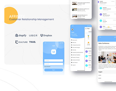 AFFINITY® — Mobile CRM UX/UI Redesign