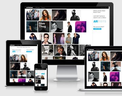 MTV Artists - Responsive Design