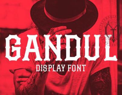 Gandul typeface