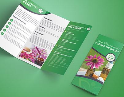 Brochure Trifold - Cursos Terapias Alternativas