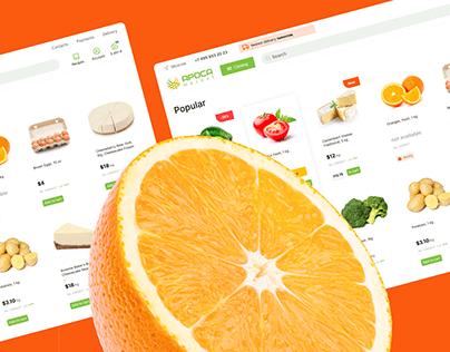 Arosa market – food store