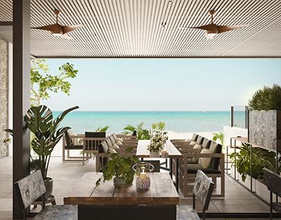 Beach bar & restaurant by K-Render Studio