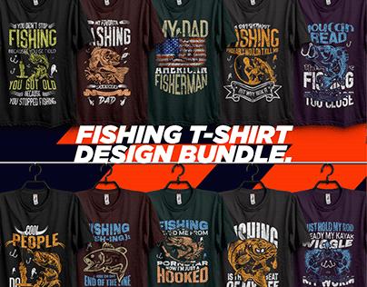 new fishing t-shirt design bundle