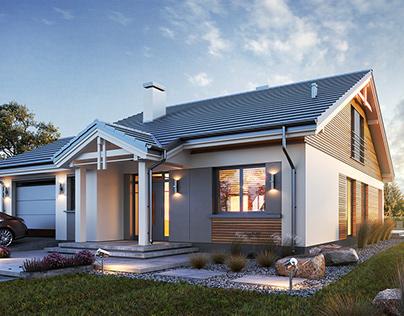 Projekt domu Parterowy wąski 2