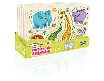 Encaixando animais | Jogo de encaixe | Linha Toyster
