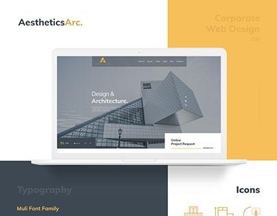 AestheticsArc. Web Design