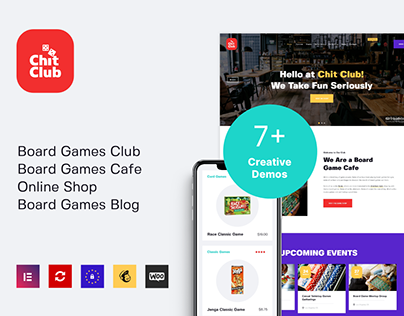 Chit Club | Board Games WordPress Theme