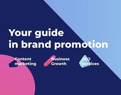 Logo and brand identity for PR-agency
