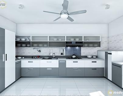 Gray & White concept of Kitchen