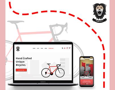 Roar Bikes Website + App Design