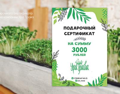 Micro-green company identity