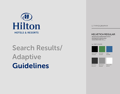 Hilton Search Results Adaptive - Guidelines