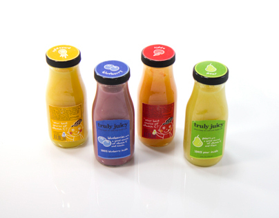 Packaging for smoothie: Truly Juicy
