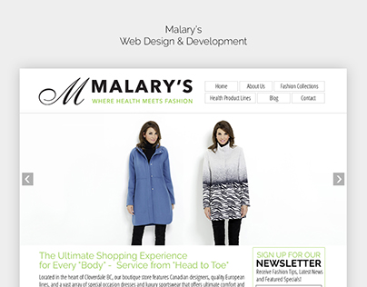 Malary's - Web Design & Development