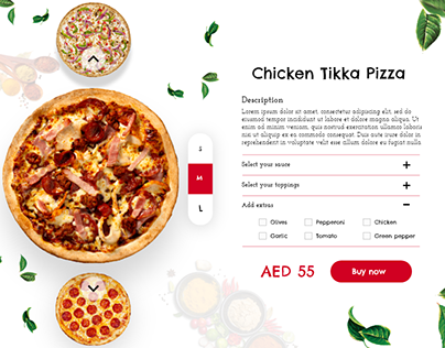 Pizza- Checkout UI