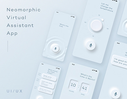 Neomorphic Virtual Assistant App