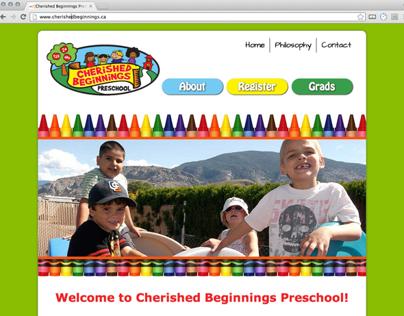 Cherished Beginnings Preschool Website Development