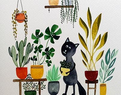 Greenhouse cats