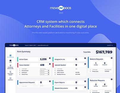 Attorney & Facility CRM | UI / UX Design