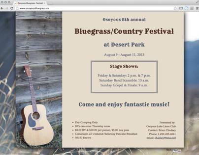Bluegrass Festival WebPage