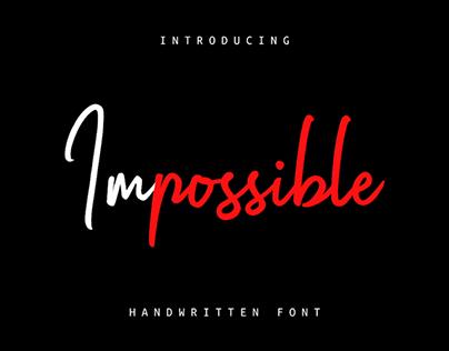 IMPOSSIBLE - FREE SCRIPT FONT