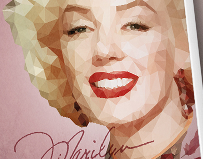 Marilyn Monroe Low Poly