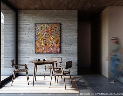 Karpenter Living room Vintage Outdoor Chair & Table