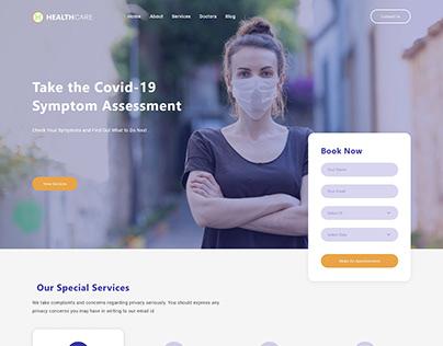 Health care center website