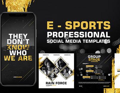 E - Sports Social Media Feed & Stories