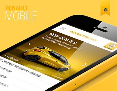 Renault mobile website
