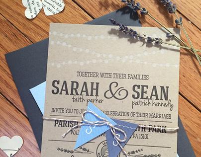 Kennedy Wedding | letterpress invitation