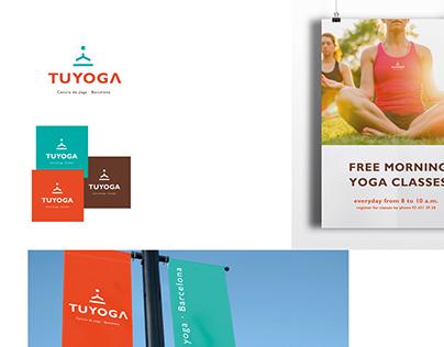 a logo and naming Tuyoga