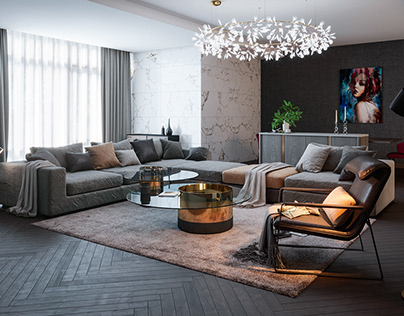 3D Living Room Visualizations