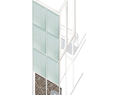 Axonometric projection of SCAD Museum of Art tower