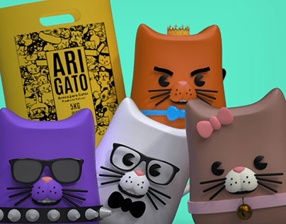 Character design for Arigato Cat Litter