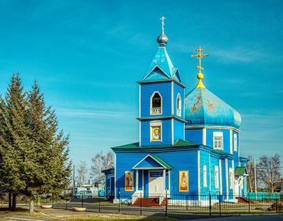 Сельская церквушка. Rural church in the Far East.