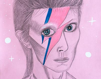 David Bowie/Ziggy Stardust Portrait