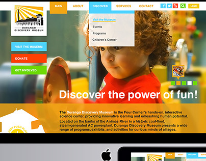 Discovery Museum Web Design