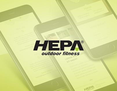 Hepa outdoor fitness - website redesign