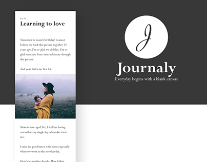 Journaly (Mobile UX/UI)