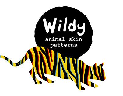 WILDY   animal skin patterns set